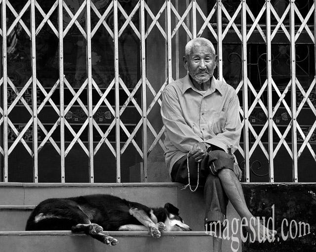 Tibet libre, photo noir et blanc