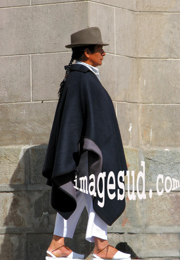 Costume traditionnel masculin, Andes d'Equateur.