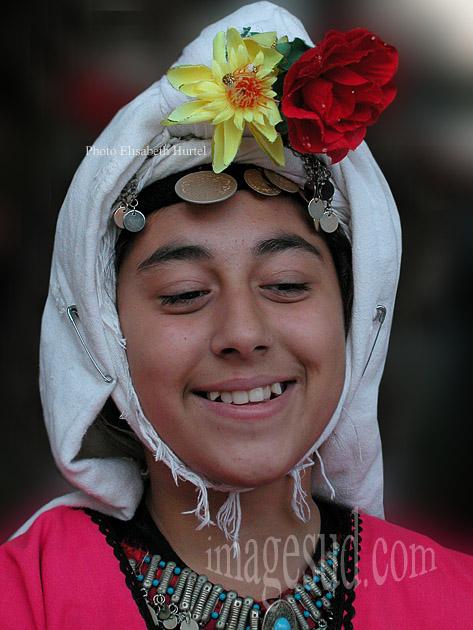 Portrait de jeune fille rieuse, Turquie