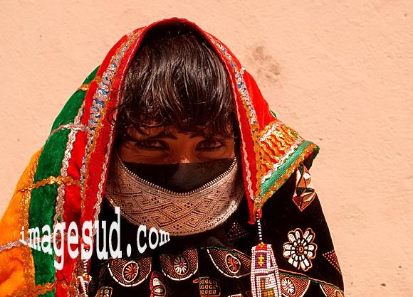 Portrait de femme nomade d'Arabie
