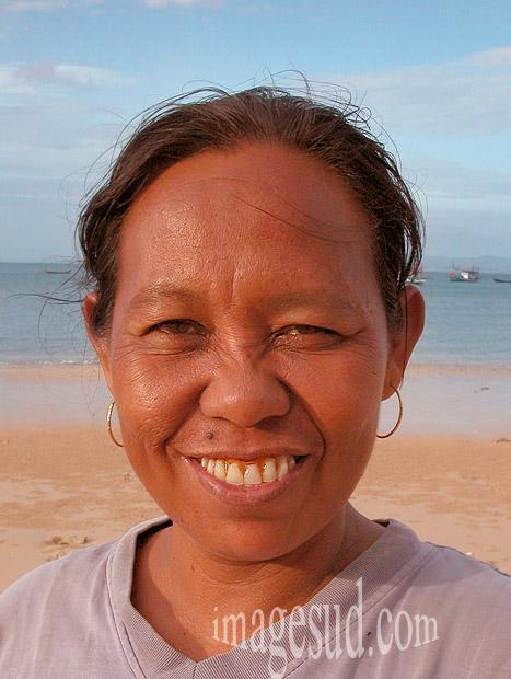 Portrait de femme de Thaïlande