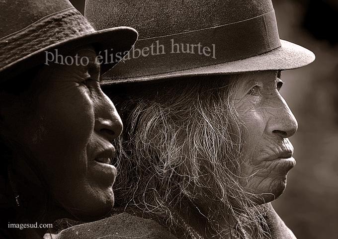 Profils des Andes, peuples Quechua, nb1010