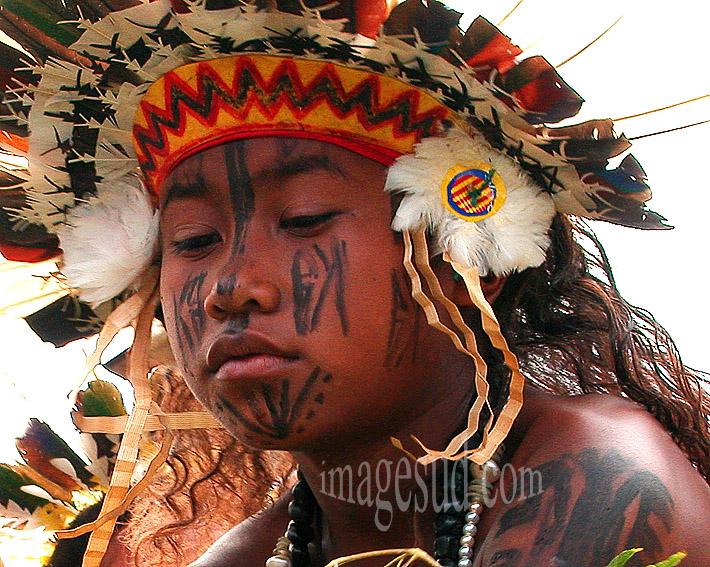 Jeune danseuse de Papouasie, PNG 0826