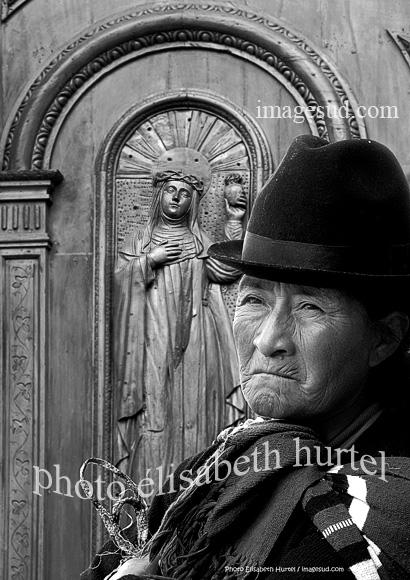 Portrait de femme des Andes, Quito-5117-nb