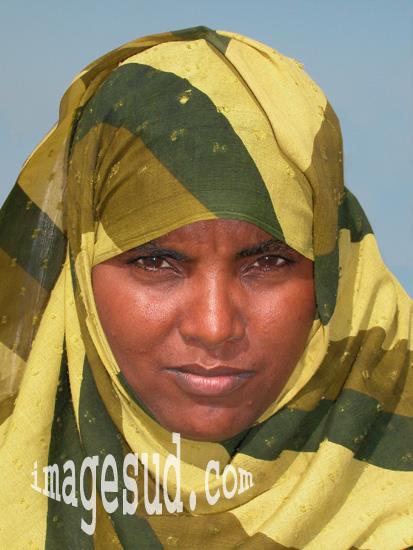 Portrait d'une jeune beauté du Soudan