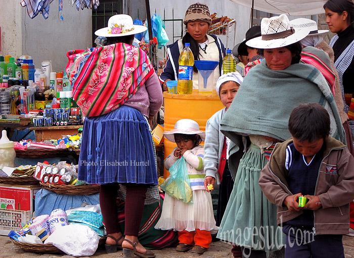 Au marché en Bolivie