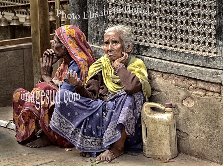 Mendiante à Katmandou, Népal