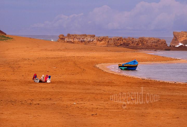 Paysage du Maroc : plage de la côte Atlantique