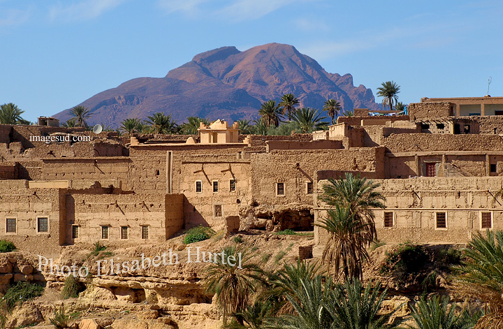 Village de l'oasis de Tata, Sud Maroc