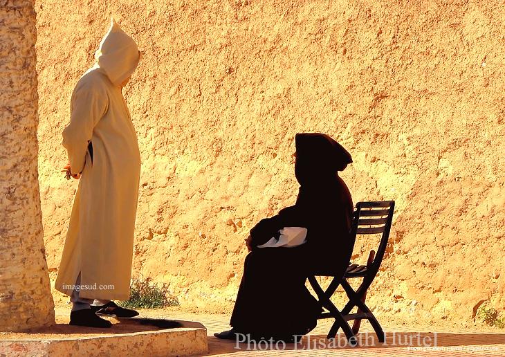 Scène de la vie quotidienne au Maroc