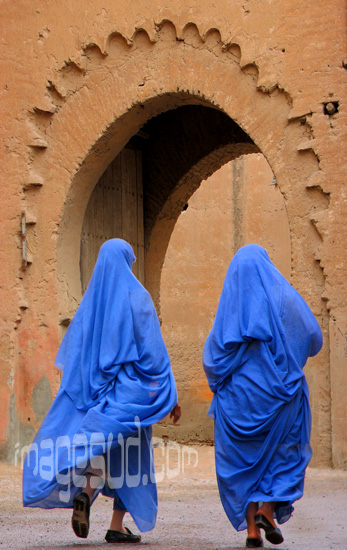 2 women in blue : Morocco