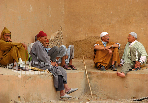 Group of men, Morocco