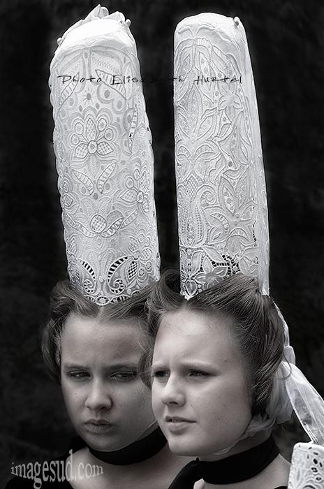 coiffe bretonne, coiffe bigouden de Bretagne
