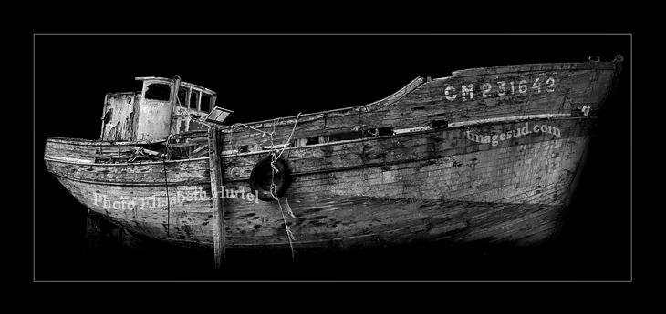 épave, vieux bateau