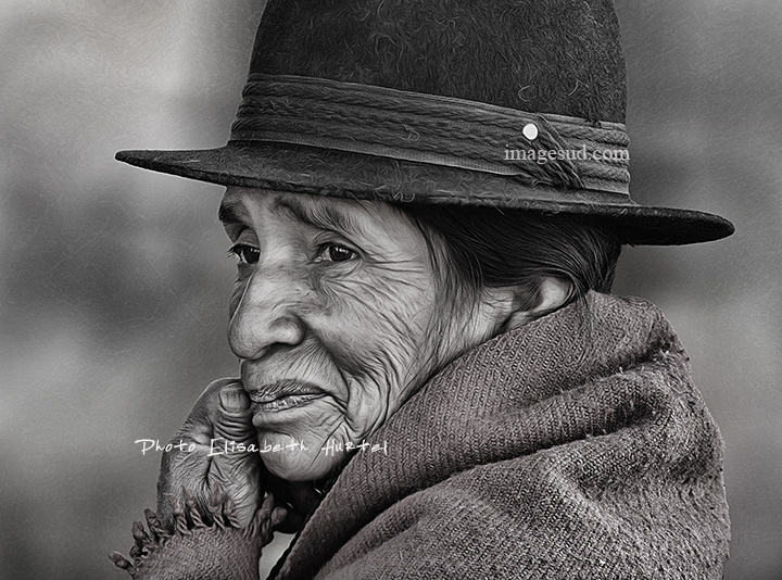 Portrait de femme indigène, Ecuador