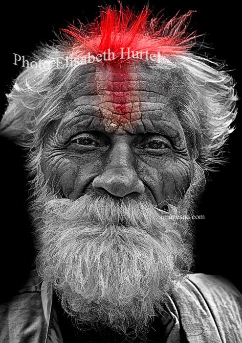Portrait d'un sage, photo noir et blanc