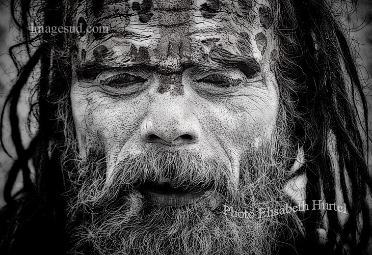 Photographie en noir et blanc : portrait