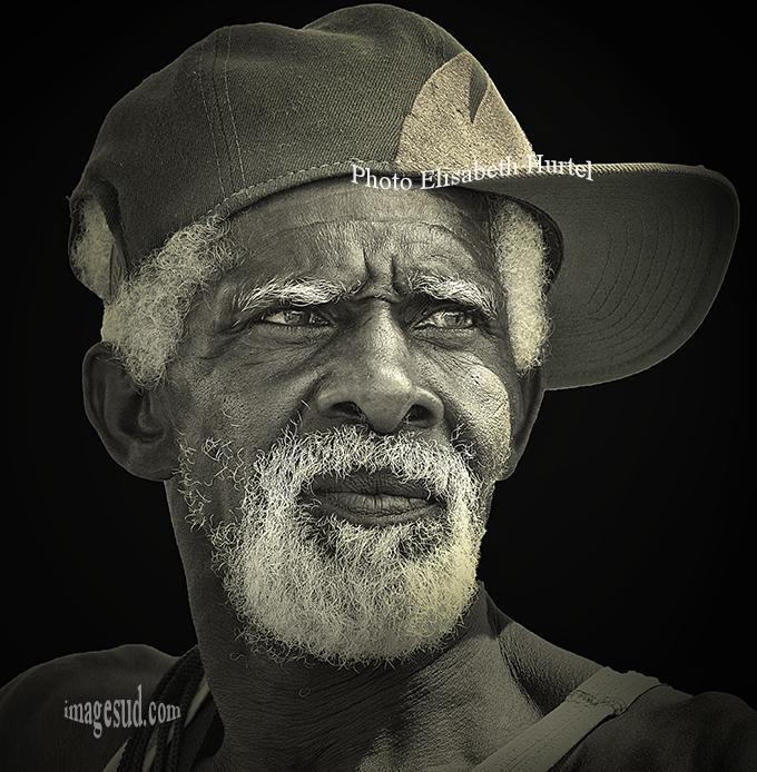 Portrait noir et blanc, Antilles