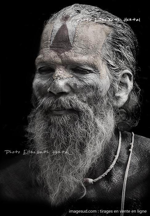 Portrait d'un saint homme, Inde