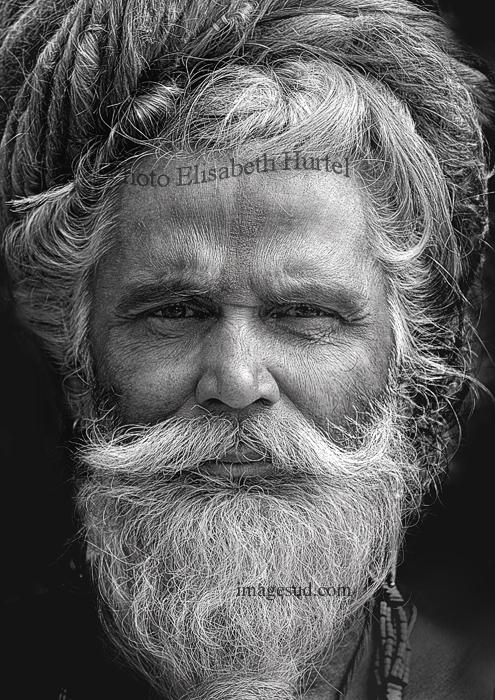 Portrait de Toison d'or en noir et blanc