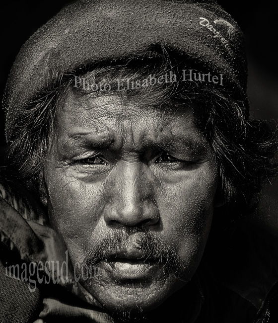Photographie noir et blanc : Vagabond, Himalaya