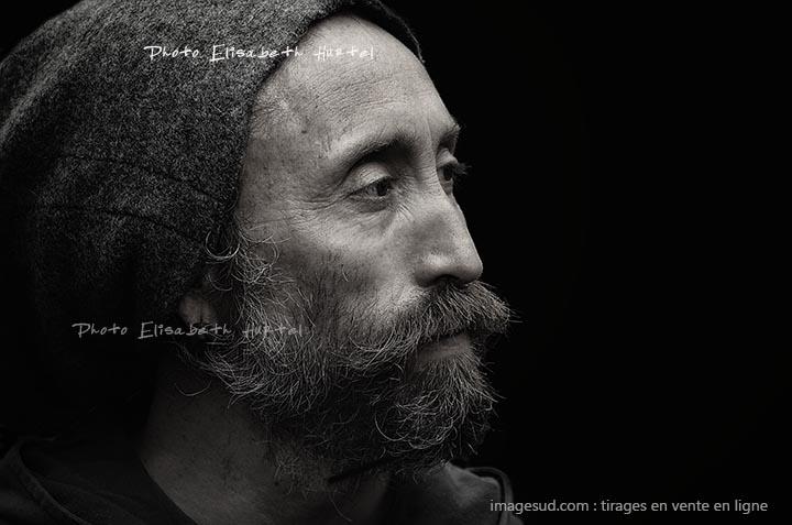 Portrait en noir et blanc, photo artistique