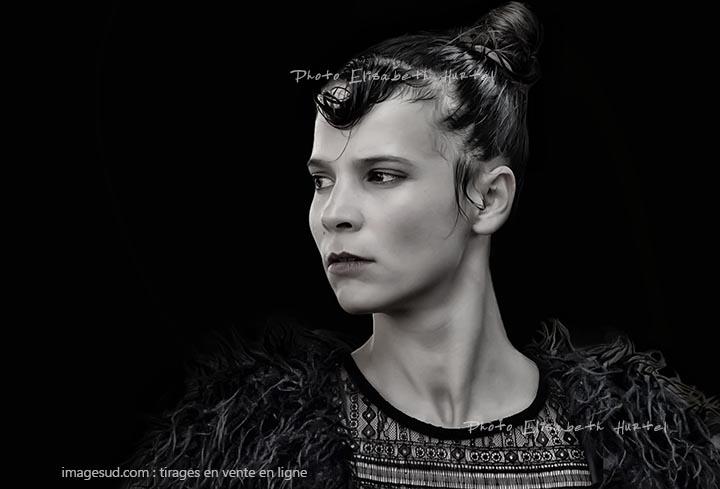 Portrait d'une danseuse de Tango, photo art noir et blanc