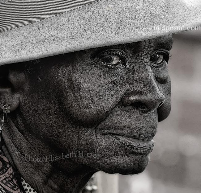 Portrait de femme d'Afrique
