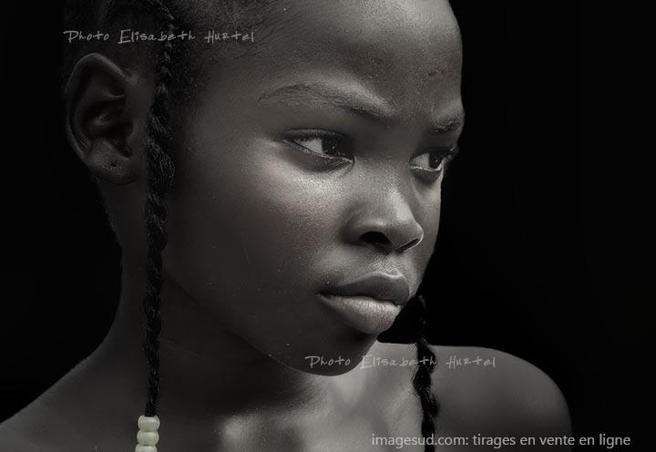 Visage de jeune fille, Afrique