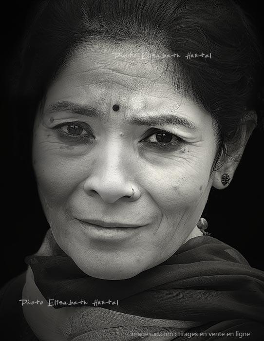 Visage de femme, Inde