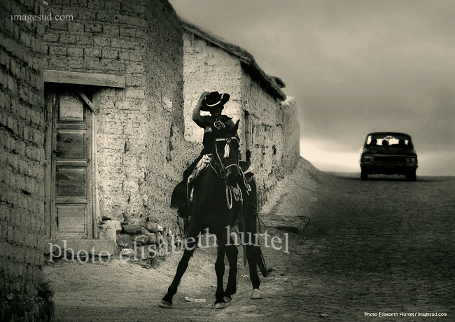 Ambiance d'Argentine, photo d'art en noir et blanc