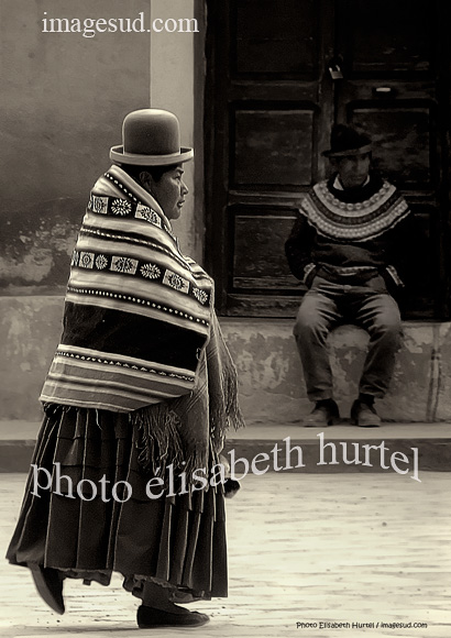 Ambiance de Bolivie, photo d'art en noir et blanc