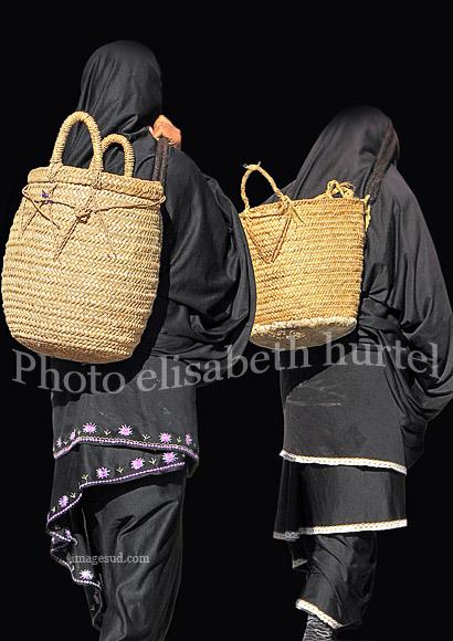 Deux femmes berbères, photo noir et blanc