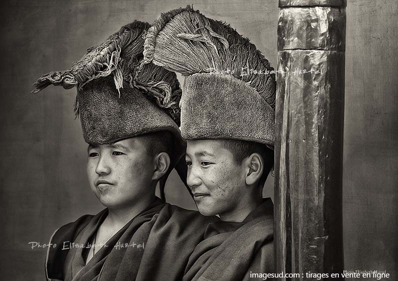 Portrait d'enfants moines bouddhistes