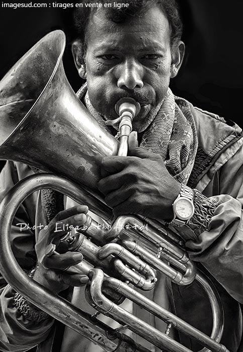 Musicien de rue, Inde