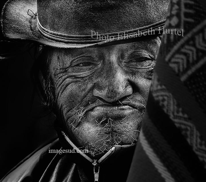 Portrait des Andes, photo noir et blanc