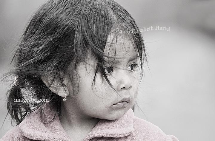 Enfant des Andes, photographie d'art en noir et blanc