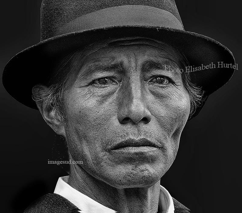 Portrait d'un Indien des Andes