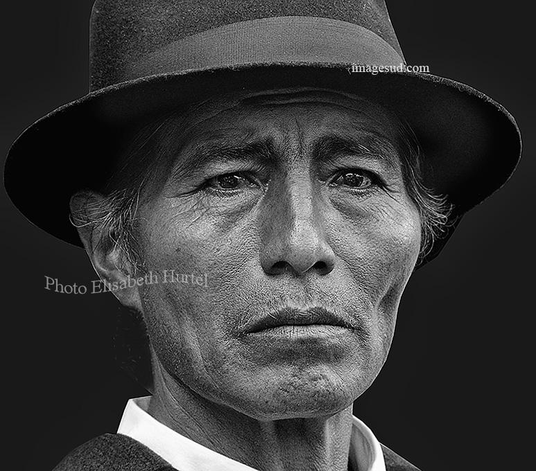 Portrait des Andes, noir et blanc