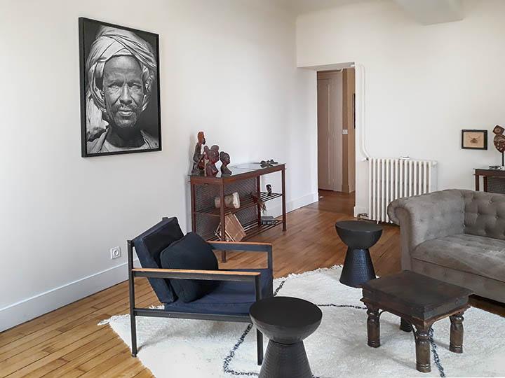Décoration intérieure : grands portraits en noir et blanc