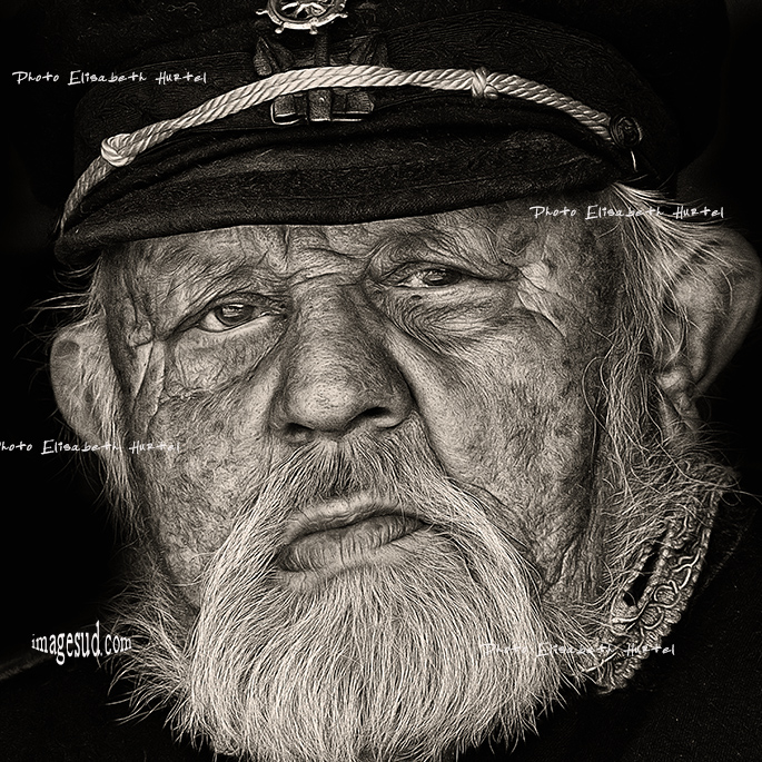 Un marin, portrait nb