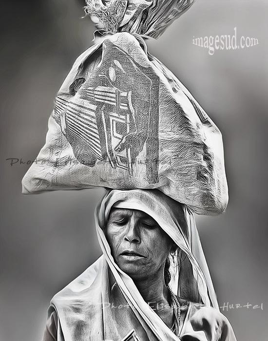 Inde en noir et blanc