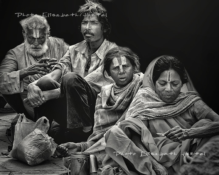 Inde : ambiance, photo noir et blanc
