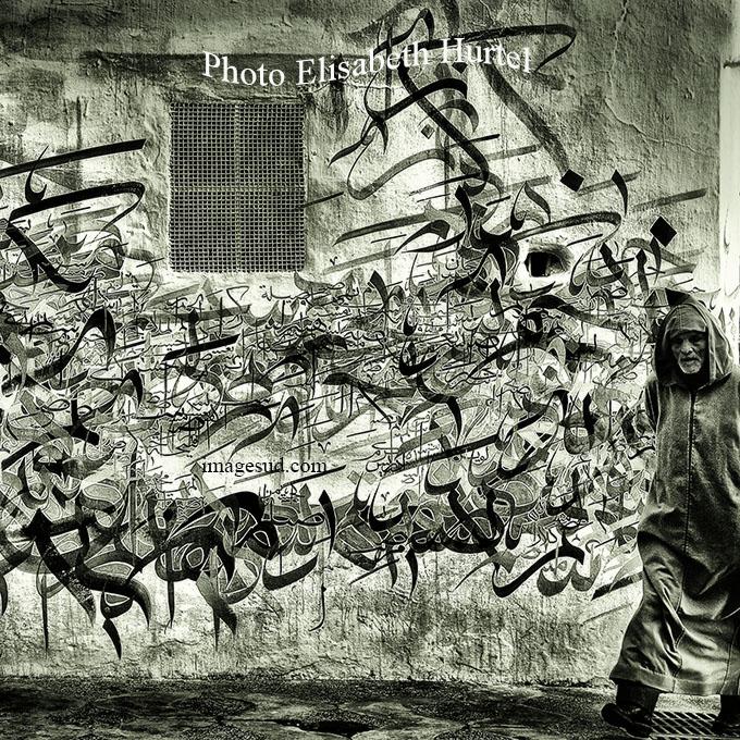 Tags du Maroc, photographie noir et blanc