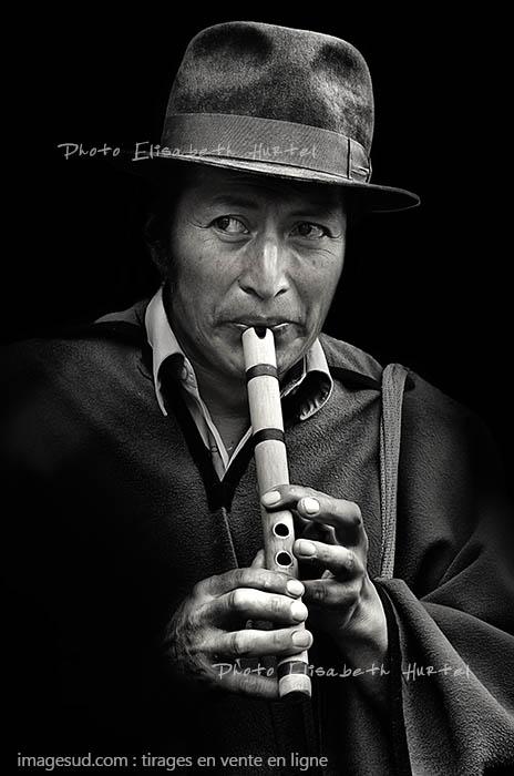 Joueur de quena, Andes