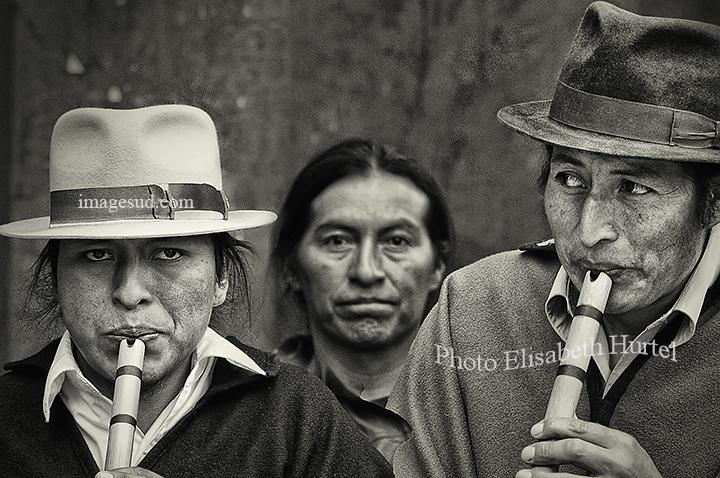 Musique des Andes, noir et blanc