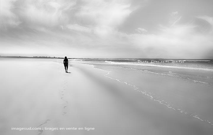 Plage, photo minimaliste de mer