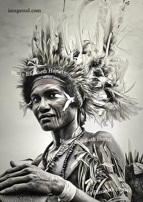 Danseur de papouasie Nouvelle Guinée