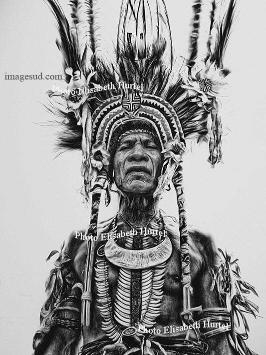 Portrait d'un vieux guerrier, Papouasie Nouvelle Guinée