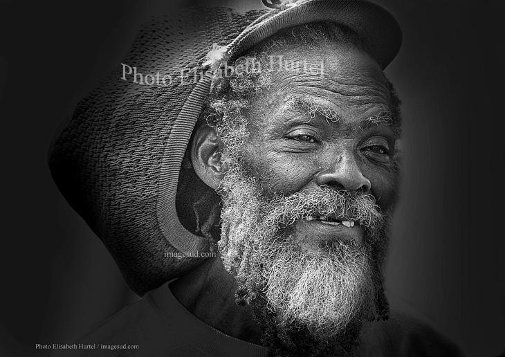 Portrait d'un vieux Rasta antillais